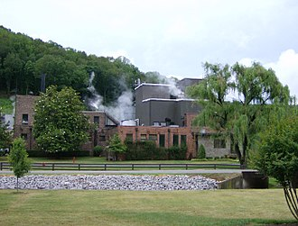 George Dickel - The Cascade Hollow distillery was reopened in 1958, and the present building dates from this era.