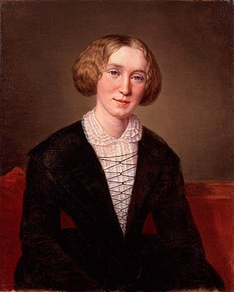 George Eliot - Aged 30 by the Swiss artist Alexandre Louis François d'Albert Durade (1804–86)