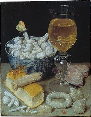 Sugar - Still-Life with Bread and Confectionery, by George Flegel, first half of 17th century