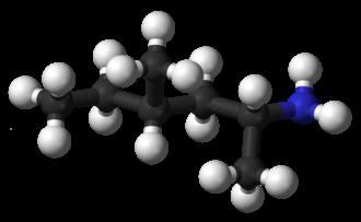 Methylhexanamine - Image: Geranamine 3D balls
