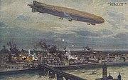 German airship bombing Warsaw