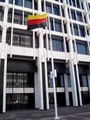 File:German flag upside down City Hall Memphis TN.theora.ogv