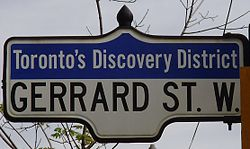 Gerrard West Street Sign.jpg