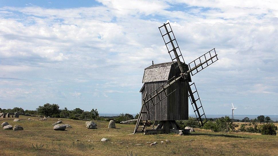 Gettlinge gravfält (Raä-nr Södra Möckleby 10-1) Väderkvarn 0583