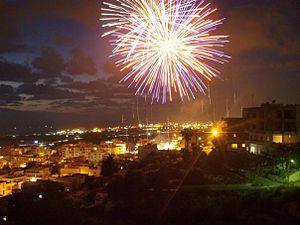 Ghazieh - Ghazieh fireworks at night
