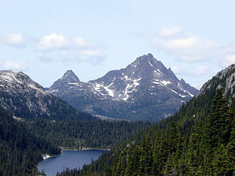 Vancouver Island Ranges - Golden Hinde, south aspect, August 2006.