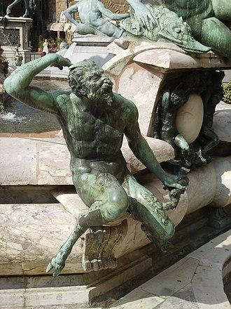 Fountain of Neptune, Florence - Image: Giambologna e ammannati, fontana del nettuno, dettaglio 08