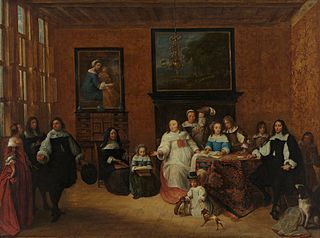 Portrait of a group in an interior