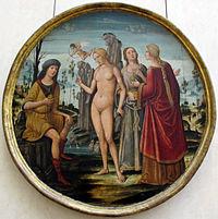 Girolamo di benvenuto, giudizio di paride, siena 1500 ca..JPG