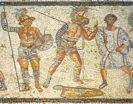 Gladiators from the Zliten mosaic 3 cropped
