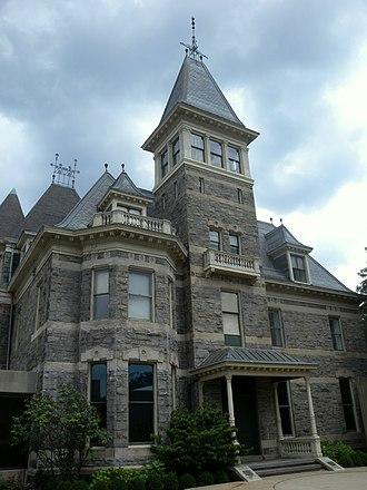 Glenview Mansion - East (front) elevation, 2010