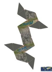 La superficie interne de Globus Cassus comparée avec la superficie terrestre