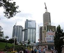 Gothia West Tower, Crown Tower och East Tower, 28 juli 2013.jpg