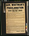 Gov. Whitman's proclamation-State military census LCCN2001700125.jpg