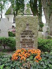 Heidegger's grave in Meßkirch