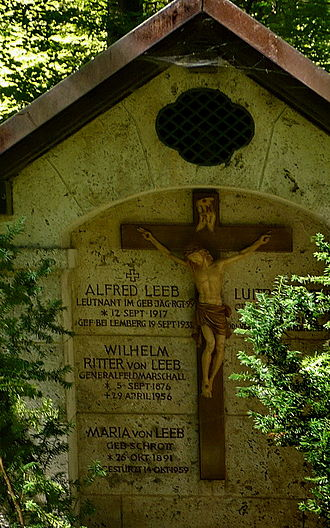 Wilhelm Ritter von Leeb - Grave at the Sollner Waldfriedhof (Nr. 17-W-2)