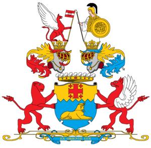 Anton von Prokesch-Osten - Arms granted to Prokesch von Osten in 1871