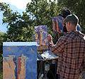 Grand Canyon Celebration of Art 2013 - Bill Cramer, Aaron Schuerr, Jim Wodark Plein Air Painting 2138 - Flickr - Grand Canyon NPS.jpg