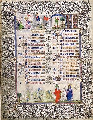 Pseudo-Jacquemart - Image: Grandes Heures du duc de Berry (BNF latin 919) Calendrier Décembre (f.6v)