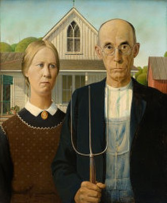 Regionalism (art) - Grant Wood, American Gothic, 1930, Art Institute of Chicago, Chicago, IL