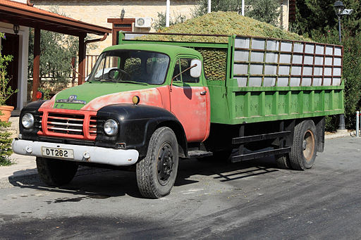 Grape truck in cyprus