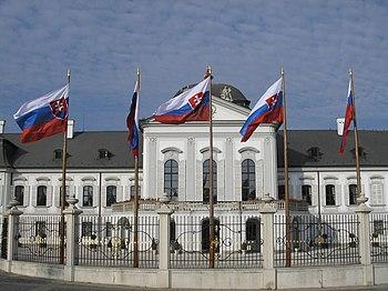 Slovakia's Presidential Palace in Bratislava