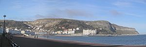 Great Orme - Great Orme panorama from Llandudno promenade