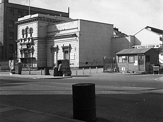Belfast Great Victoria Street railway station - Remains of the station building in 1976, before final demolition.