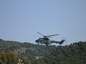 English: An AS-332 Super Puma, of the Hellenic...