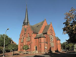 Gronau, North Rhine-Westphalia - Image: Gronau, die evangelische Stadtkirche Dm 3 foto 9 2013 09 28 10.06