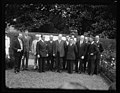 Group, left to right- unidentified, Charles Lindbergh, James J. Davis, unidentified, Charles Curtis, Herbert Hoover; John Pershing, 4th from right LCCN2016889705.jpg