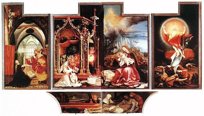 Isenheimer Altar, erste Öffnung