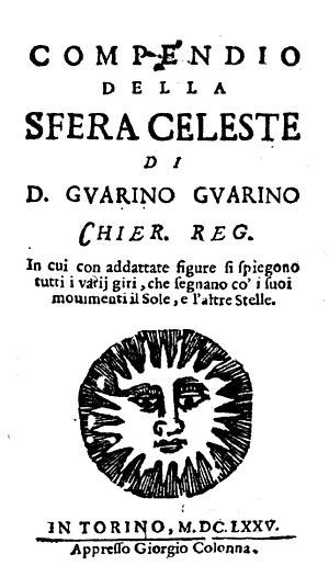 Guarino Guarini - Compendio della sfera celeste, 1675