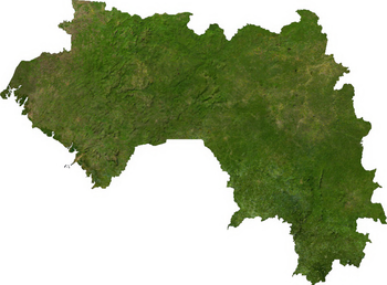 Satellite image of Guinea