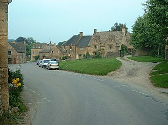 Guiting Power - Guiting Power, looking South East down the village