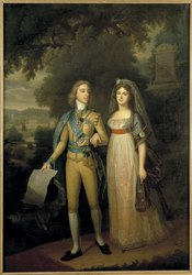 Jonas Forsslund: Gustav IV Adolf, 1778-1837, King of Sweden and Fredrika Dorotea Vilhelmina, 1781-1826, Princess of Baden, Queen of Sweden