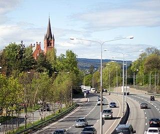 Høvik Village in Østlandet, Norway