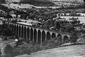 Starrucca Viaduct - A 1920 picture of the Starrucca Viaduct.