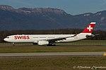 "HB-JHB Airbus A330-343 A333 - SWR ""Sion"" (23691149490).jpg"