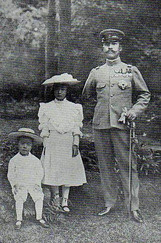 Prince Kan'in Kotohito - Image: HIH Prince Kan'in Kotohito with Princess Yukiko and Prince Haruhito