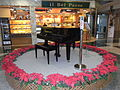 HK Peak Galleria 山頂廣場 03 Shop il Bel Paese Grand Piano Xmas flowers.JPG