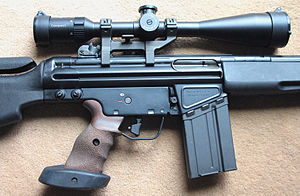 Heckler & Koch SR9 - Right side of an HK SR9T.