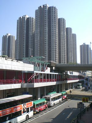 Luk Yeung Sun Chuen - Luk Yeung Sun Chuen. The Tsuen Wan Station is at the bottom half of this picture.
