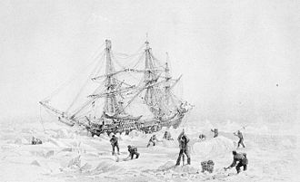 HMS Terror (1813) - Image: HMS Terror Thrown Up By Ice