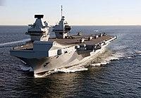 HMS Queen Elizabeth in Gibraltar - 2018 (28386226189)