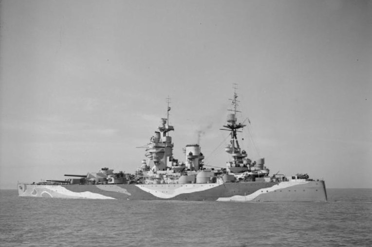 HMS Rodney after refitting at Liverpool