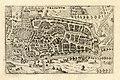 HUA-212012-Plattegrond van de stad Utrecht met directe omgeving met gestileerde weergave van het stratenplan met bebouwing en het grondgebruik in opstand.jpg
