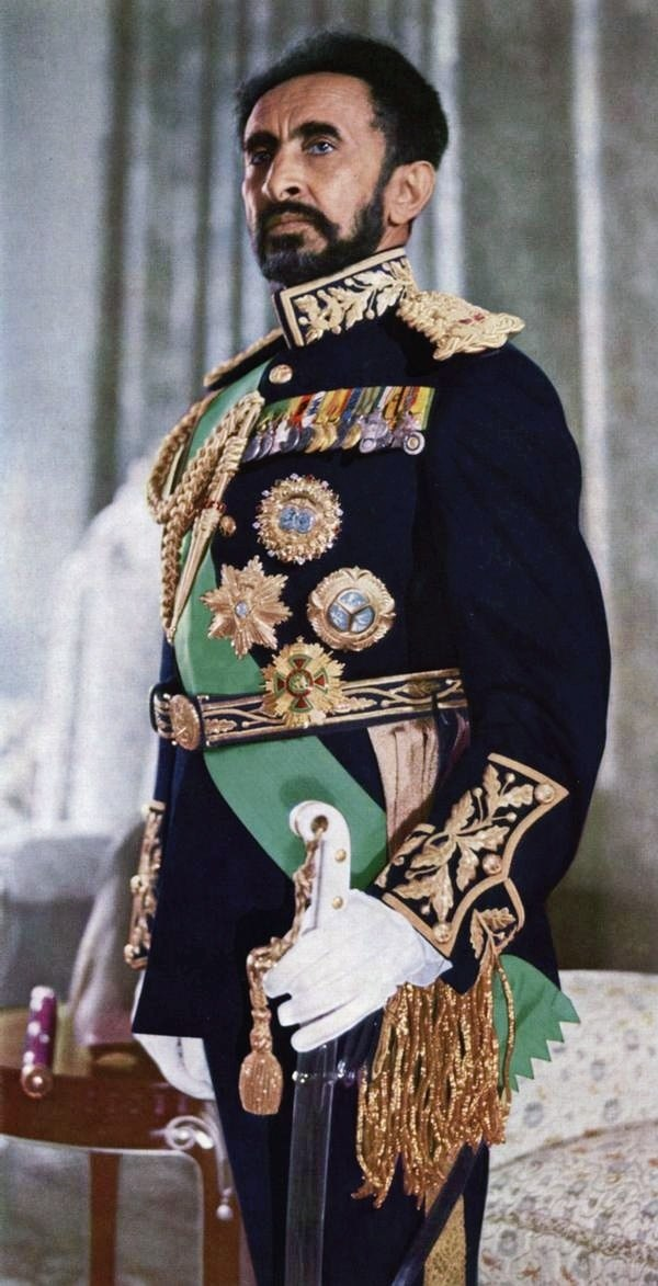 Haile Selassie in full dress
