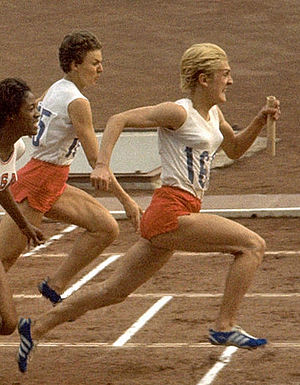 Halina Górecka - Halina Górecka (left) and Ewa Kłobukowska at the 1964 Olympics