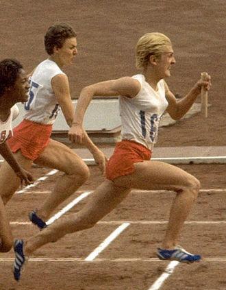 Halina Górecka - Halina Górecka (left) and Ewa Kłobukowska at the 1964 Olympics